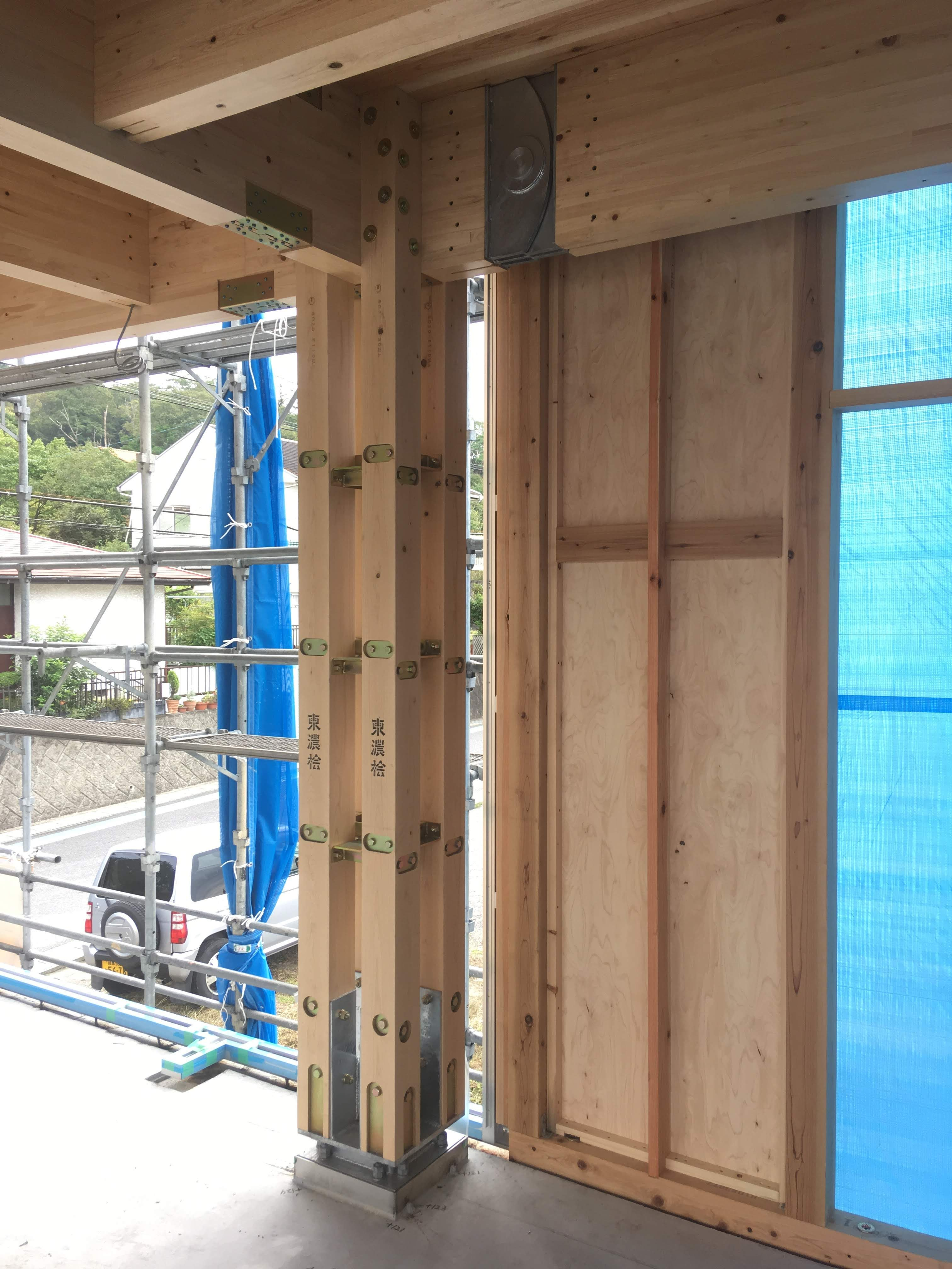 「囲柱ラーメン木構造」構造見学会
