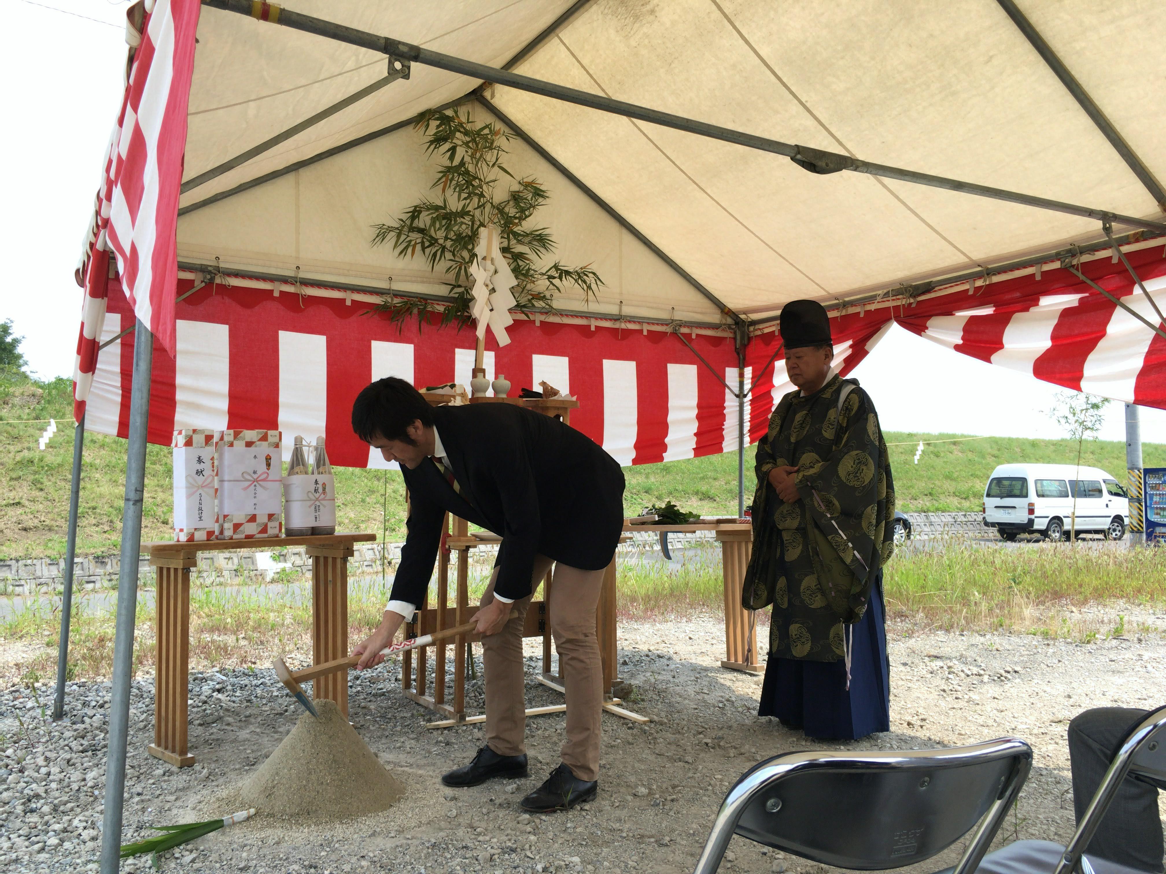 「川島の家」地鎮祭
