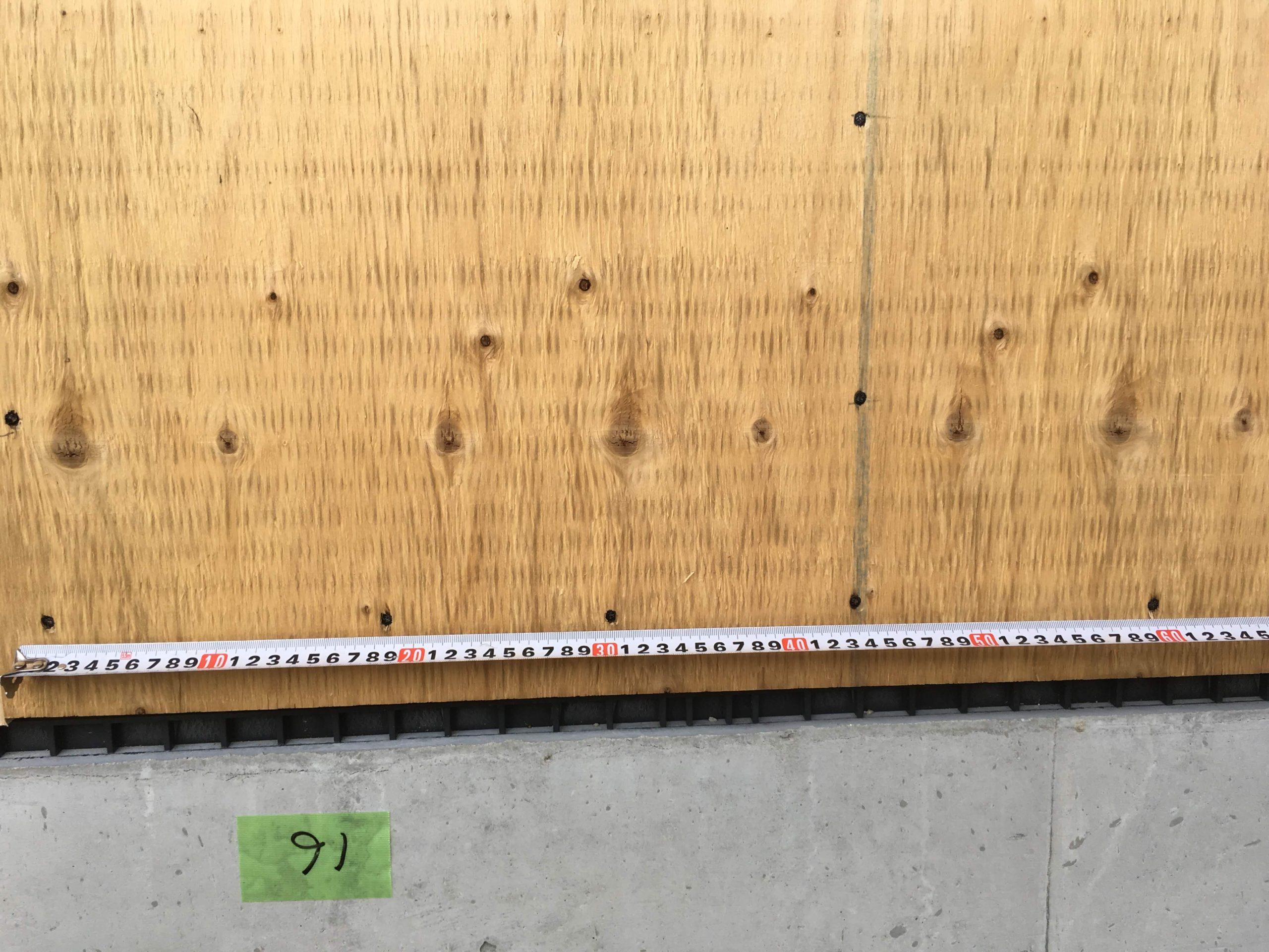 「交流センター 中大規模木造」耐力壁検査